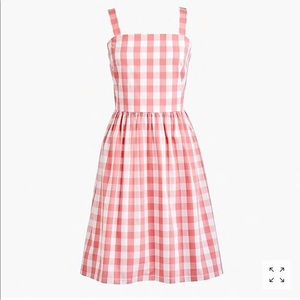New Factory J Crew Ray Gingham Cotton Plaid Dress